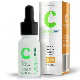 Olejek konopny CBD 10% RAW Oil + MCT 1500mg, 15 ml